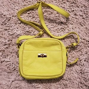 J. Crew MINI BAG Citrus Yellow Leather Bag